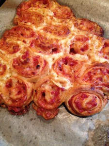 Pizza-Schnecken ferig