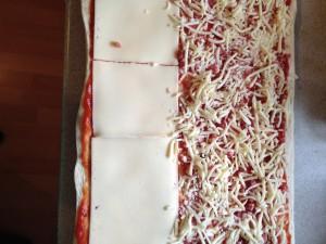 Pizza fertig zum rollen