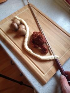 Babarenspieß zusammenbau Zutaten