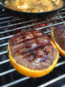 Rumpsteak in der Orange pit-blog