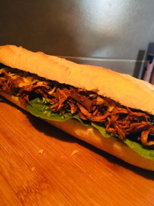 pulled chicken Baguett von pit-blog